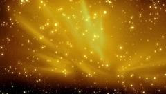 Christmas golden background with particles bokeh sparkling, gold holiday xmas Stock Footage