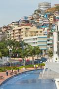 View of Cerro Santa Ana, city landmark in Guayaquil Stock Photos