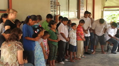 Children Praying in PALAU Stock Footage