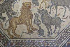 Wild animals roman mosaic Stock Photos