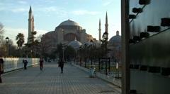 Stunning Hagia Sophia ISTANBUL, TURKEY Stock Footage