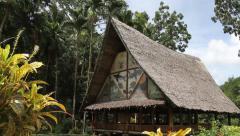 Traditional Bai House, Palau Stock Footage