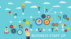 Business start up. Motion graphic animation. Stock Footage