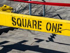 Square One Yellow Sign - stock photo