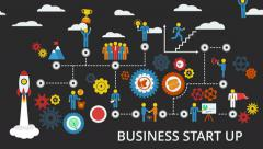 Business start up. Animated scheme. Motion graphic. Stock Footage