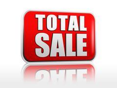 Total sale - stock illustration
