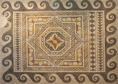 Geometric roman mosaic - stock photo