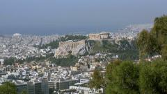 View Of The Ancient Acropolis In Greece  - stock footage