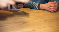 Couple in the restaurant Stock Footage