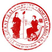 North Carolina Seal Rubber Stamp - stock illustration