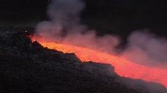 Volcano activity. Lava spattering Stock Footage