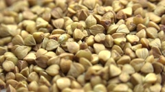 High Resolution Macro of Dry Buckwheat Grain. Dolly Shot. 4K UltraHD, UHD - stock footage