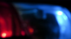 Defocused Police Lights at a Crime Scene Stock Footage