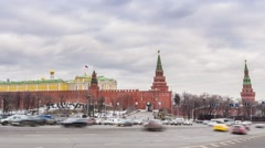 Time Lapse of Kremlin Wall Stock Footage