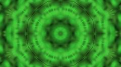 Bright green kaleidoscope Stock Footage