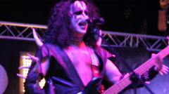 Stock Video Footage of Kiss Cover Band performs live!
