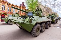 Nona-SVK 120mm self-propelled mortar carrier - stock photo