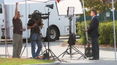 CNN news crew covers Walter Scott murder case - stock footage