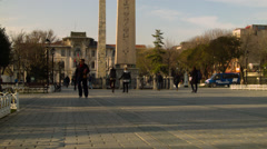 Obelisk of Theodosius ISTANBUL, TURKEY Stock Footage
