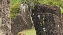 Rai Stones in the Island of Palau Stock Footage