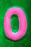 Number Zero in Pink - stock illustration