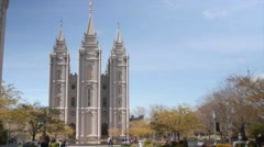 Temple Square Salt Lake City Utah Stock Footage