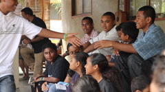 Youth Group Meet at Community Center - PALAU Stock Footage