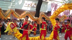 Shenzhen Xixiang Pak Tai Temple celebration parade, very exciting Stock Footage