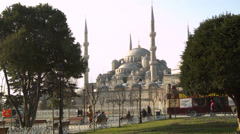 Long Shot of the Magnificent Blue Mosque ISTANBUL, TURKEY Stock Footage