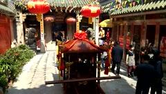 Shenzhen Xixiang Pak Tai Temple Landscape Stock Footage
