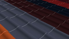 Color options for the roof tiles on the roof Stock Footage