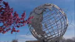 World's Fair Unisphere. Flushing Meadows Corona Park. Stock Footage