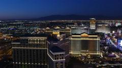 Aerial View of Las Vegas at Night Stock Footage