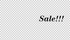 SALE Text Black Text Stock Footage