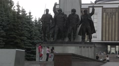 The monument to the countries participating in the anti-Hitler coalition - stock footage