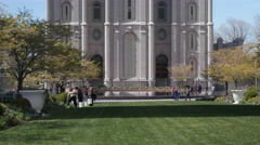 The mormon Temple in Salt Lake City Utah Stock Footage