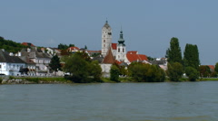 Austria -  Wachau Valley - Stein on the Danube Stock Footage