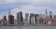 Stock Video Footage of New York City Manhattan midtown buildings skyline