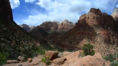 Stock Video Footage of colorful landscape from zion national park utah