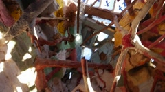 Unique shot of the ceiling structure of Salvation Mountain. - stock footage