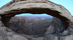 mesa arch utah canyonlands - stock footage