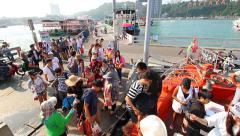 People And Tourist Travel Pattaya Beach Of Thailand - stock footage