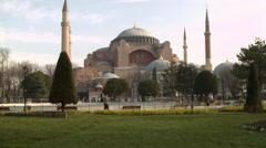Magnificent Hagia Sophia ISTANBUL, TURKEY Stock Footage