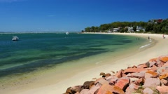 Nelson Bay Beach, Port Stephens in 4k Stock Footage