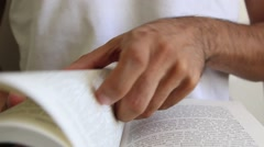Reading book2 Stock Footage