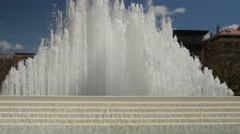 Large summer water fountain Stock Footage
