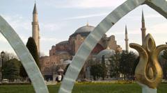 Hagia Sophia Through an Iron Gate ISTANBUL, TURKEY Stock Footage