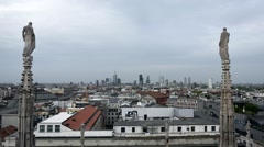 Timelapse - Milan, new skyline 2015 from the Duomo terrace Stock Footage