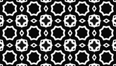 Black and white kaleidoscope. Seamless loop. Stock Footage