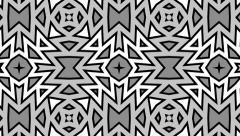 Black, gray and white kaleidoscope. Seamless loop. Stock Footage